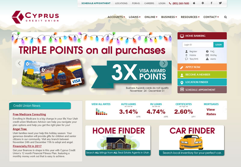 credit union website