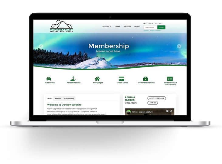 alaska credit union website